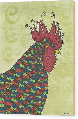 Rooster Comb Wood Print