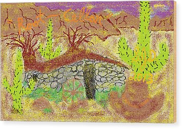 Root Cellar Wood Print by Joe Dillon