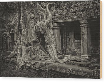 Roots In Ruins 7, Ta Prohm, 2014 Wood Print