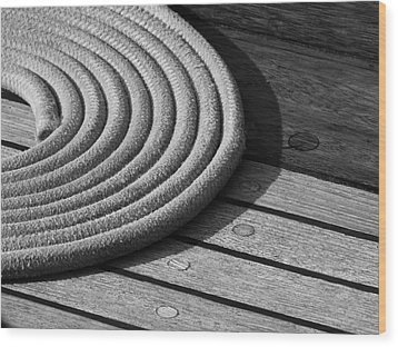 Rope Coil Wood Print