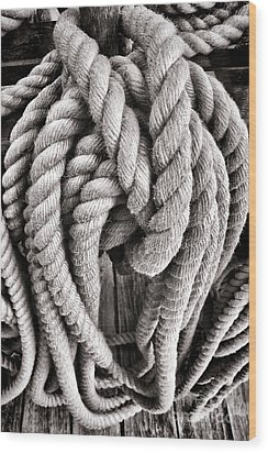Rope Wood Print by Olivier Le Queinec