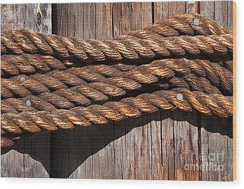 Roped Wood Print by Dan Holm