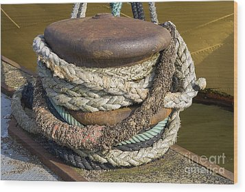 Ropes Wood Print by Patricia Hofmeester