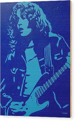Rory Gallagher Wood Print by John  Nolan