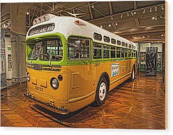 Rosa Parks Bus Wood Print