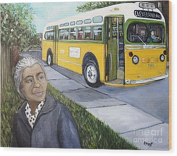 Rosa Parks Wood Print by Reb Frost
