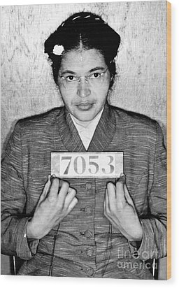Rosa Parks Wood Print by Unknown