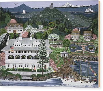 Wood Print featuring the painting Rosario Resort by Jennifer Lake