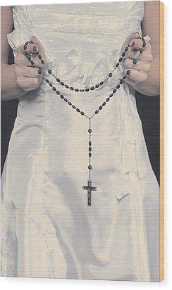 Rosary Wood Print by Joana Kruse