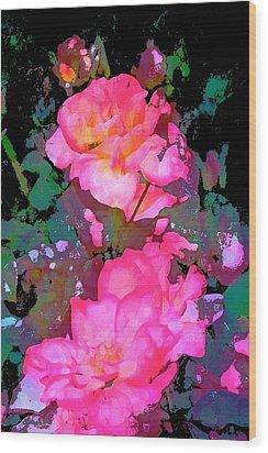 Rose 193 Wood Print by Pamela Cooper