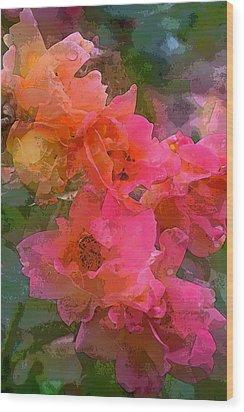 Rose 219 Wood Print by Pamela Cooper