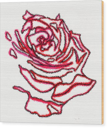 Rose 3 Wood Print by Christine Perry
