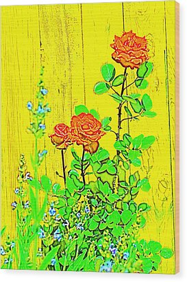 Wood Print featuring the photograph Rose 9 by Pamela Cooper