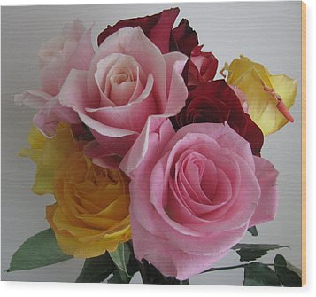 Wood Print featuring the photograph Rose Bouquet by Margaret Newcomb