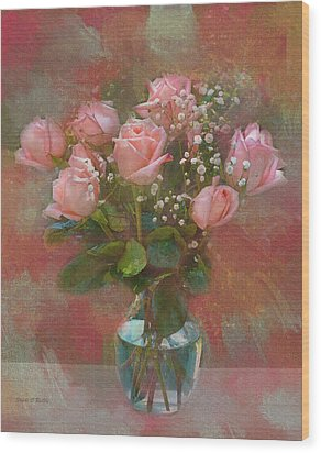 Rose Bouquet Wood Print by Sandi OReilly