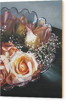 Rose Bowl Wood Print by Dianna Ponting
