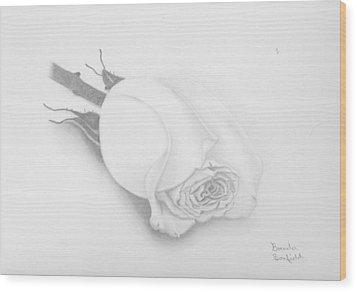 Rose Wood Print by Brenda Bonfield