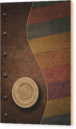 Rose Button Wood Print by Tom Mc Nemar