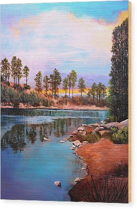 Rose Canyon Lake 2 Wood Print