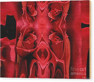 Rose Carving Wood Print by David Winson