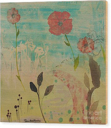 Rose Colored Path Wood Print by Robin Maria Pedrero