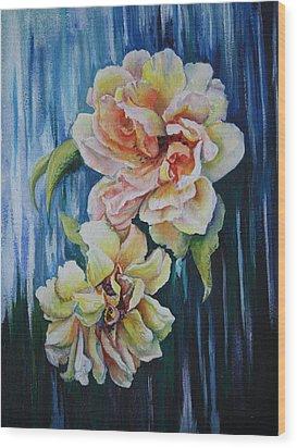 Rose Duo Wood Print