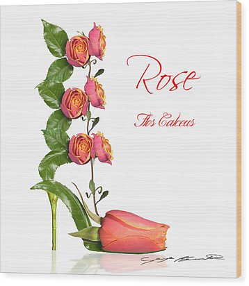 Rose Flos Calceus Wood Print by Blanchette Photography