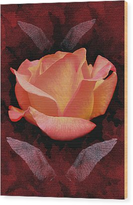 Rose From Angels Digital Art Wood Print by Costinel Floricel