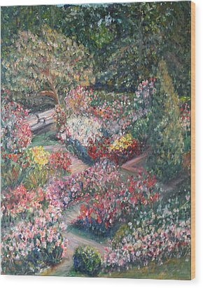 Rose Garden Wood Print by Quin Sweetman