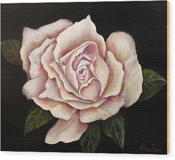 Rose Glow Wood Print