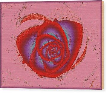Rose Heart Wood Print by Anastasiya Malakhova