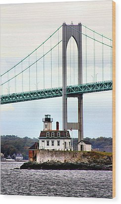 Rose Island Lighthouse Wood Print