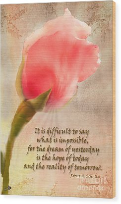 Rose Of Hope Wood Print