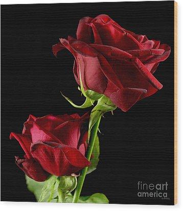 Rose Of Love Wood Print by Wobblymol Davis