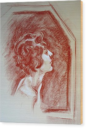 Rose Portrait Wood Print