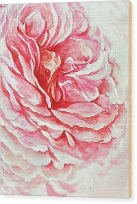 Wood Print featuring the painting Rose Reflection 3 by Sandra Phryce-Jones