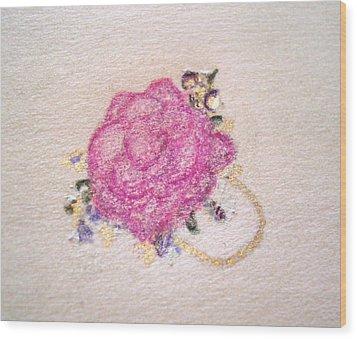 Rose Ring Wood Print by Christine Corretti