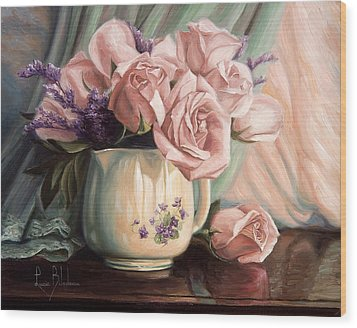 Rose Roses Wood Print by Lucie Bilodeau