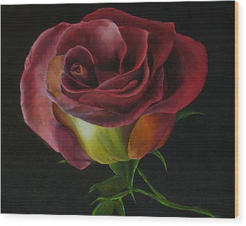 Rose Wood Print by Sherry Robinson