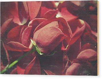 Rose Wood Print by Taylan Apukovska