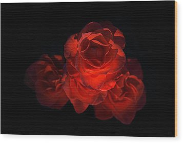 Wood Print featuring the photograph Rose Three by David Andersen