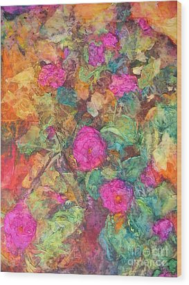 Rose Tree Wood Print