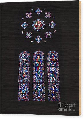Rose Window At Wcf Washington Dc Wood Print by Rod Ismay