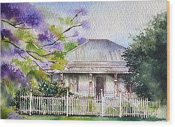 Roseabellas House Bellingen Wood Print