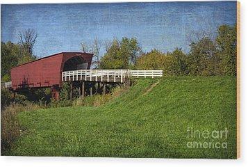 Roseman Bridge Wood Print by Tamara Becker