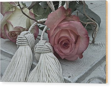 Wood Print featuring the photograph Roses And Tassels by Sandra Foster