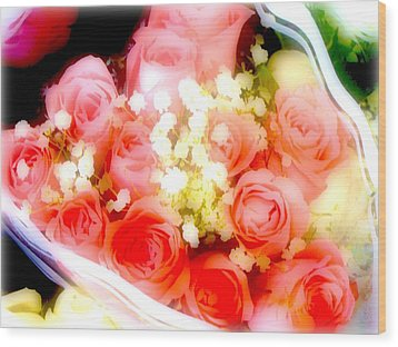 Wood Print featuring the photograph Roses Are Red. by Ira Shander