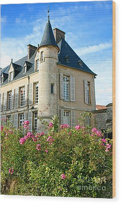 Roses At The Castle Wood Print by Olivier Le Queinec