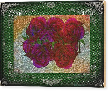 Roses- Featured In Beautiful Roses And Comfortable Art Groups Wood Print by EricaMaxine  Price