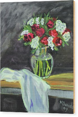 Roses For Mother's Day Wood Print by Michael Daniels